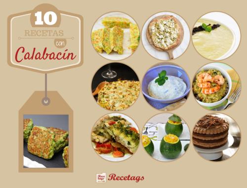 Recopilación de 10 recetas de cocina con calabacín entre sus principales ingredientes.