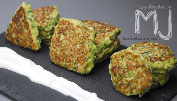 Tortillitas de calabacín para el recopilatorio de 10 recetas con calabacín. Foto del blog de las recetas de MJ