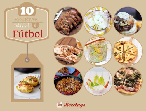 Imagenes de las recetas para vivir la Copa del Mundo 2014.