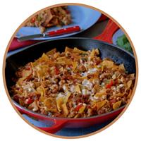 Foto de Enchiladas con carne, chorizo y jalapeños