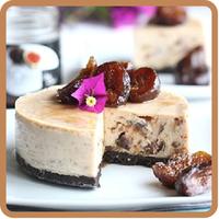 Foto de Tarta de queso con higos confitados en almíbar