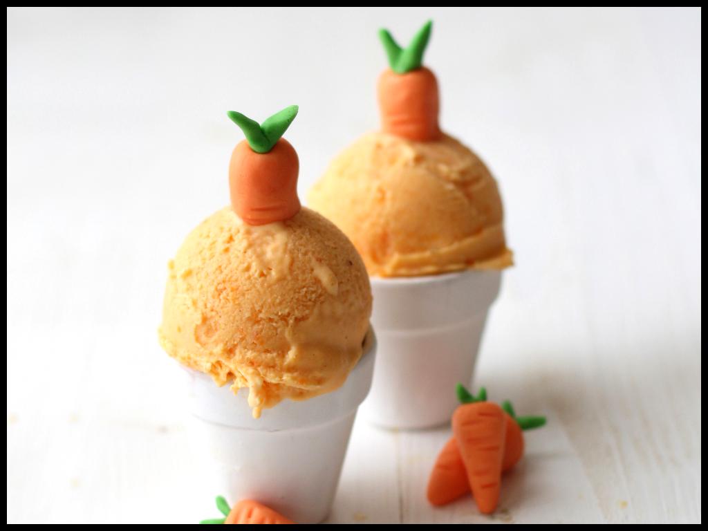 "Helado de carrot cake del libro ""Polos & helados"" de Sandra Mangas."