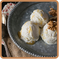 "Yogur helado de nueces y miel del blog ""The sweetest taste"""