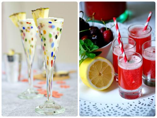 Piña colada y limonada de cerezas, perfectas bebidas para una barbacoa