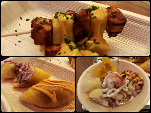 Platos de comida peruana en Kinua (Platea) de Kiko Zeballos