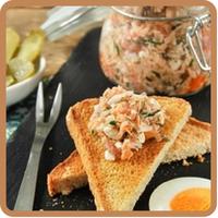 """Rilette de salmón y ricotta del blog """"L'Exquisit"""""""