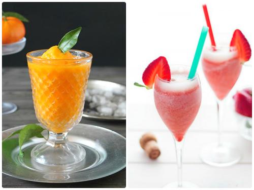 Refrescantes sorbetes de frutas para acabar una barbacoa