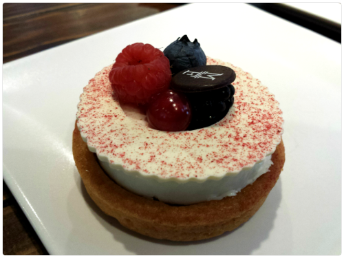 Tartaleta de Chocolate blanco y frambuesa de Mama Framboise (Platea)