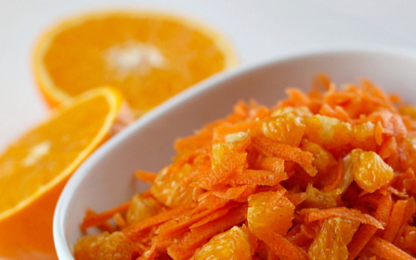 """Ensalada de naranja y zanahoria"" Food morning"
