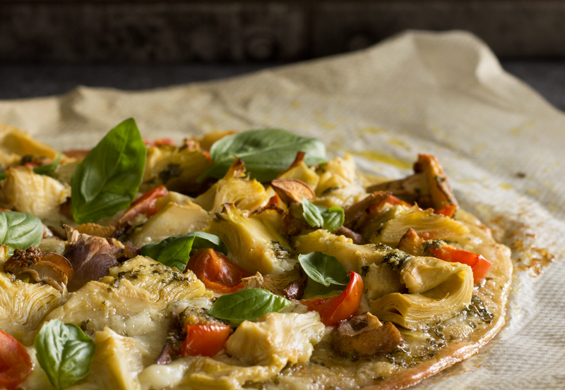 "Pizza vegetariana del blog ""Because"" para la final del Mundial de fútbol"