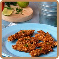"""Snacks de pollo a la cerveza con kikos del blog """"Loleta. Life, Market & Cooking"""", una receta fresca y muy veraniega"""