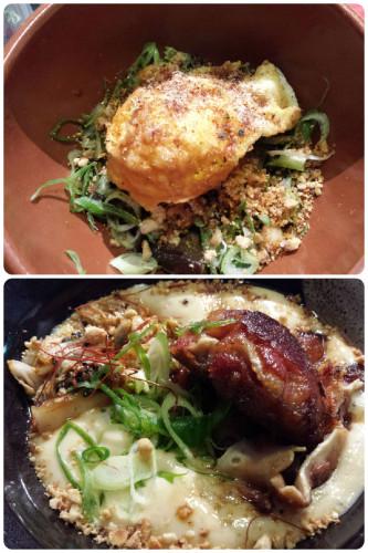 Huevo a baja temperatura y oreja, dos platos de éxito en Nakeima