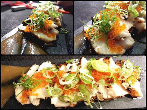 Delicioso tataki de pez mantequilla en Nakeima