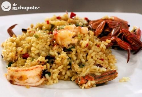 arroz con nécoras de recetas de rechupete y viña tondonia