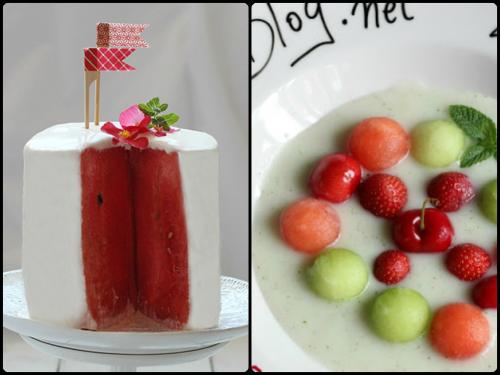 Postres con sandía de To be gourmet y Lazy blog