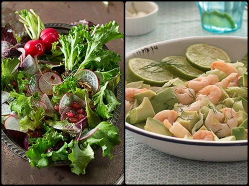Ensalda de invierno del blog Los tragaldabas y ensalada de verano del blog Raquel's kitchen