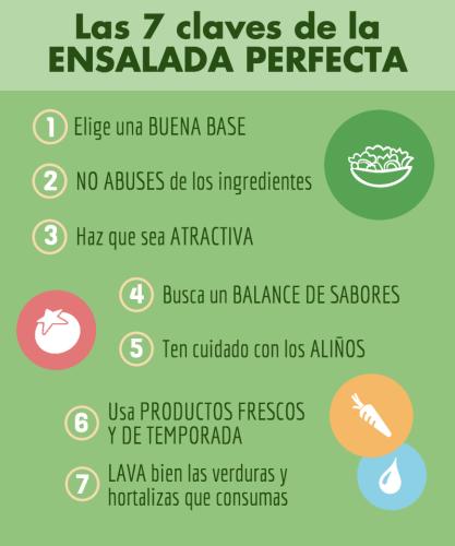 7 claves para una ensalada perfecta