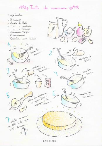 Tarta de manzana de ALMU D ARTE. Sencilla y muy rica