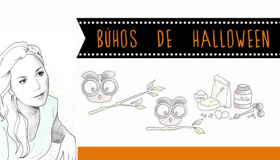 Búhos de Halloween, receta ilustrada de Almudena Ruiz