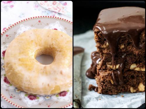 Donuts con calabaza y buttermilk del Blog la Cuinera y Brownie de chocolate de Loleta, para el top 5 semanal de Recetags