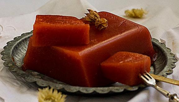 Dulce de membrillo-Yerbabuena en la cocina