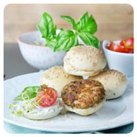 Hamburguesas veganas ed Cocinando con Catman para el top5 semanal de Recetag