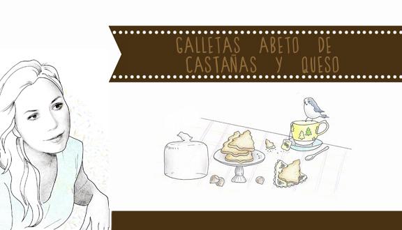 Galletas abeto de castañas y queso de To Be Gourmet hechas por Almu D Arte
