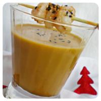 Crema de marisco con langostinos y gambas del Blog de cuina de la dolorss para el top 5 recetas de la semana de Recetags