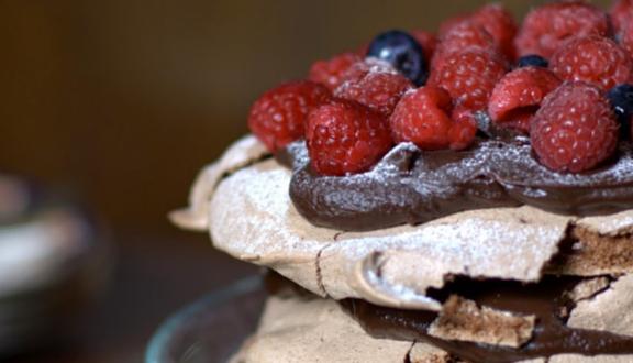 Paulova de chocolate de cosas con encanto para Recetags