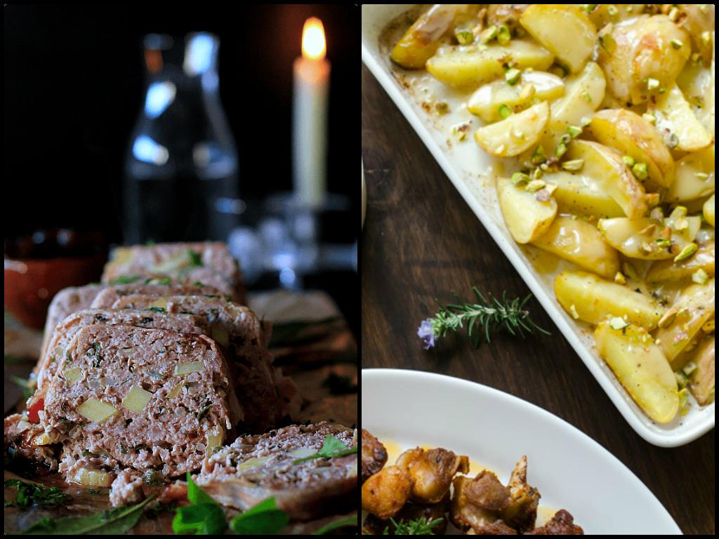 Pastel de carne y manzanas de La cocina de Babel y Patatas a la crema de la Torta de casar de pepacooks
