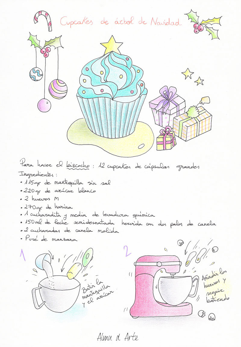 receta-ilustrada-navideña