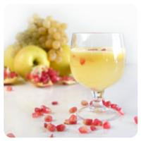 Receta tradicional de zumo de uva y manzana
