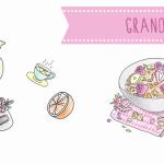 Granola. Receta Ilustrada en Recetags