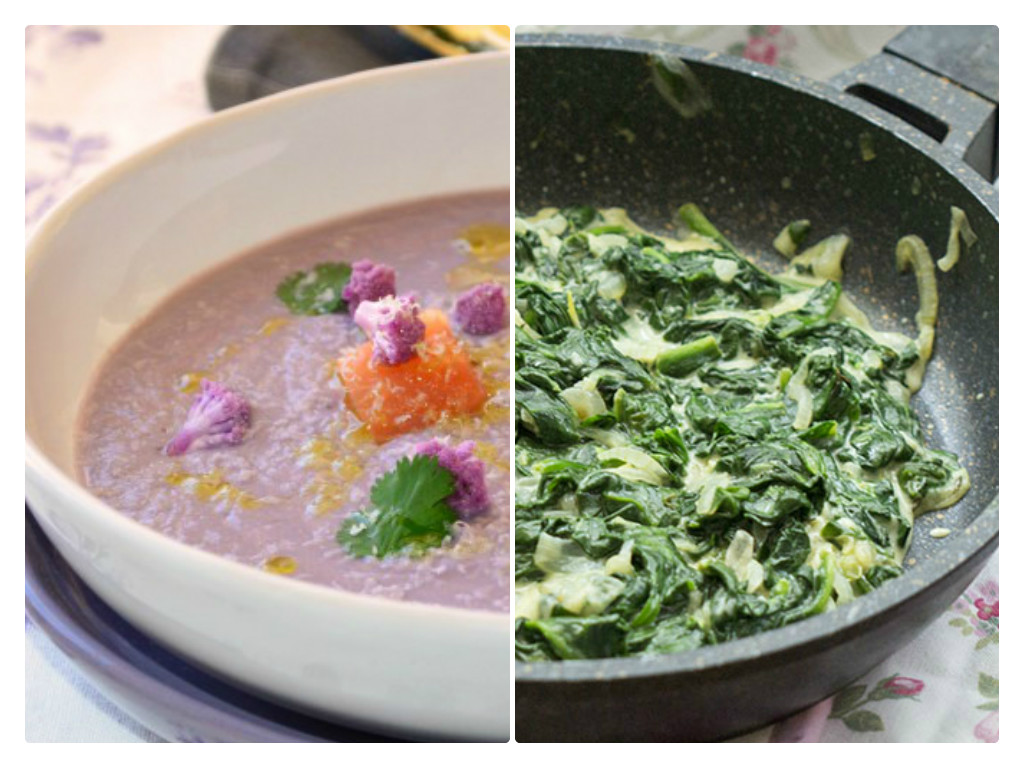 Espinacas y coliflor, verduras perfectas para unas recetas de comida sana