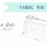 Planifica tu menú semanal. Calendario ilustrado