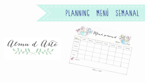 Calendario ilustrado para planificar tu menú semanal