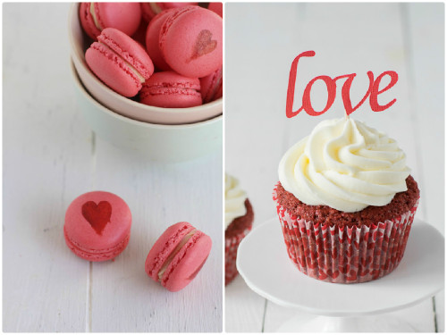 Macarons y cupcakes. Dos recetas con mucho amor.