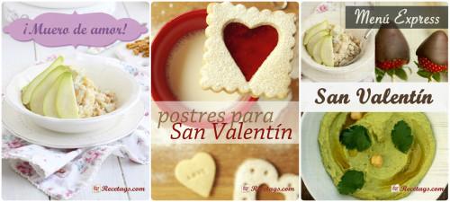 Recetarios especiales para San Valentín