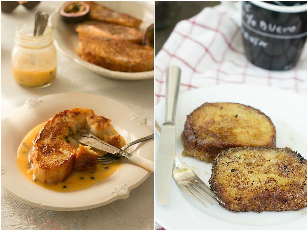 Torrijas de coco y torrijas con miel en el Top 5 semanal