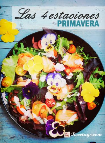 Recetario online Las 4 estaciones: Primavera con recetas aptas para esta época del año