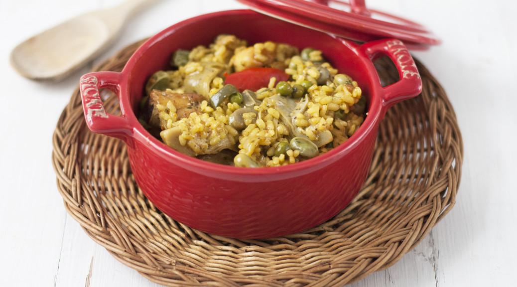 Receta de arroz con pollo y verduritas