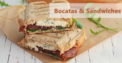 Bocatas y sandwiches de diferentes tipos para que elijas tu preferido
