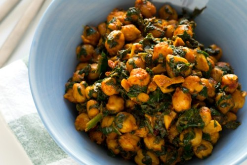 Espinacas con garbanzos, receta de semana santa