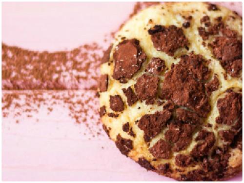 Galleta craquelada de chocolate blanco  y cacao del blog Bajo una nube de azúcar glas