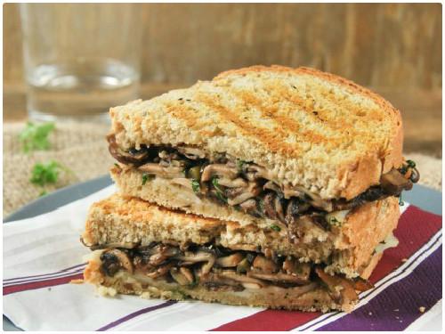 Sandwich caliente de champiñones y provolone del blog L'Exquisit