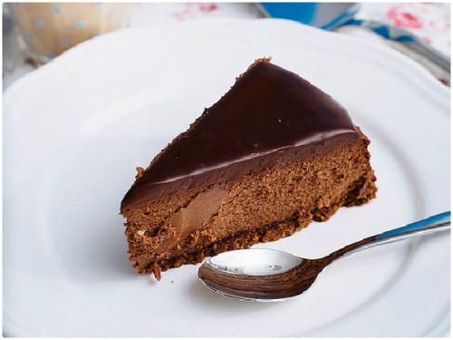 Receta de Cheesecake de chocolate del blog Corazón de Caramelo