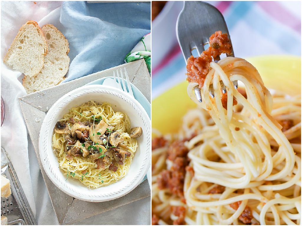 Recetas de espaguetis carbonara y boloñesa de Because y Bea recetas y más