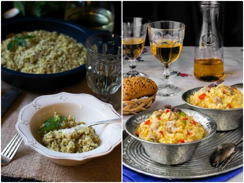 Recetas de risotto al pesto y risotto de berberechos