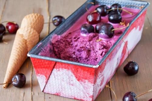 Helado de cerezas del blog Atrapada en mi cocina