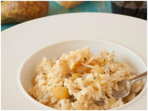 Risotto con pera y gorgonzola del blog Atrapada en mi cocina